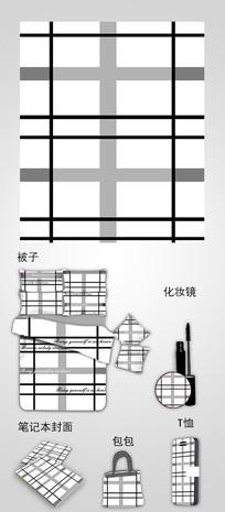 手绘条纹设计插画图