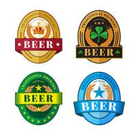椭圆形的啤酒贴纸模板