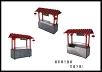 小吃车3D模型
