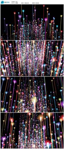 绚丽粒子光线上升视频素材