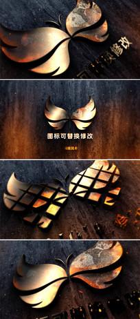 震撼金属质感logo标志演绎ae模板