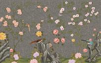 中国风工笔花鸟