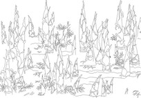 竹笋雕刻图案