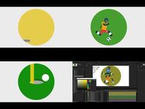 15个体育项目MG矢量图标AE模板