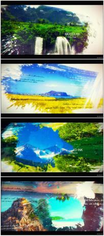 大气水墨笔刷视差图片展示片头