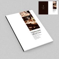 高档西餐厅艺术画册封面设计