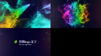 炫丽多彩霓虹光效描边标志logo演绎视频