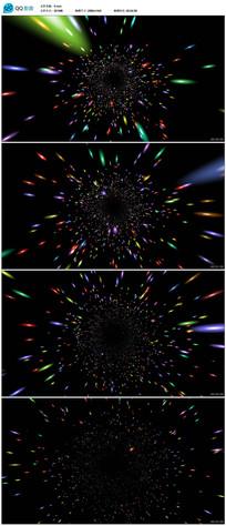 粒子光线隧道视频素材