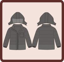 男成人男童冬季棉衣外套