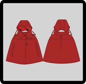 女成人女装童装披风式外套