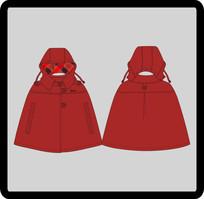 女成人女装童装披风式外套 CDR