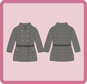 女装女童冬季羽绒服棉衣