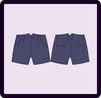 少女童装短裤 CDR
