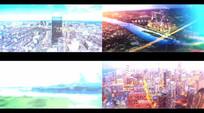 未来科技感线条视差动态图片展示视频