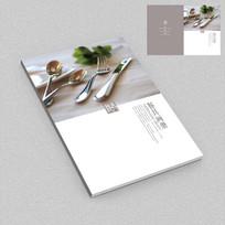 艺术餐具工艺品宣传画册封面