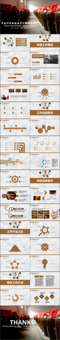 中国传统工艺酿酒文化ppt模板