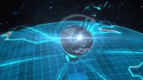 地球卫星数据联络片头素材