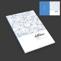蓝色现代抽象画册封面设计