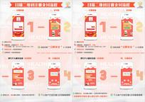 手机扫码注册流程支付流程宣传单页