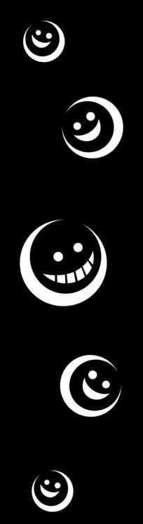 笑脸雕刻图案 CDR