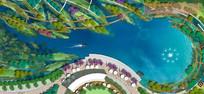 滨河景观彩色平面图