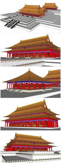 古建筑太和殿SU模型