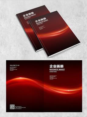 红色弧线个性封面