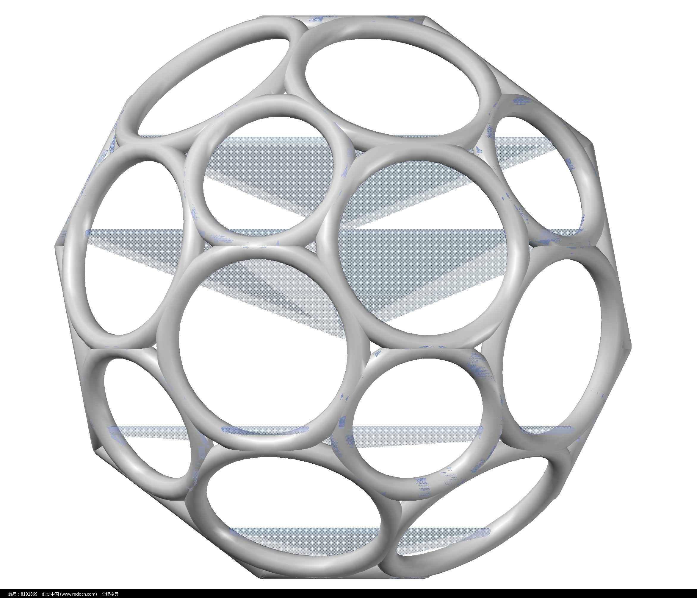 足球化学分子烯CAD三维v足球模型图片素材辰浩cad重生成图片