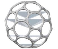化学分子足球烯CAD三维制图模型