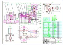 减压阀装配图CAD二维图纸