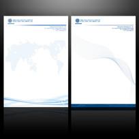 简约企业信纸设计psd素材