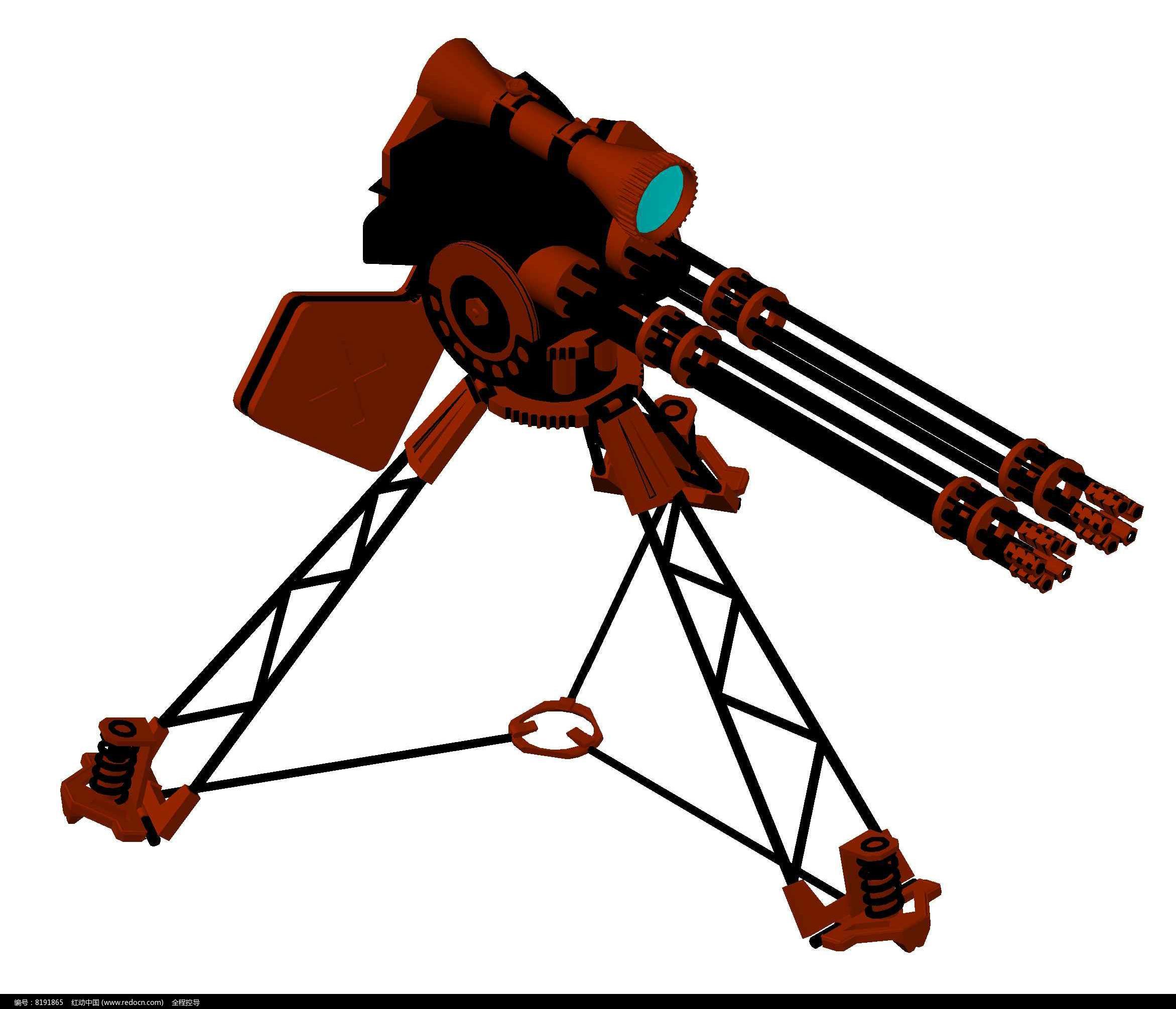 机关枪CAD三维节点图片素材膜结构图纸张拉cad图图片