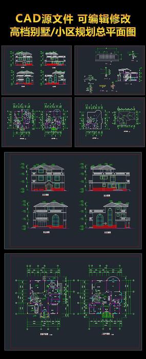 某独栋别墅建筑图CAD图装修图