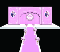 欧式粉色婚礼舞台背景