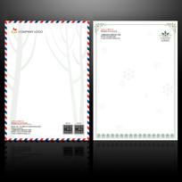 圣诞节信纸设计