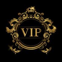 VIP欧式金色华丽皇冠盾牌素材