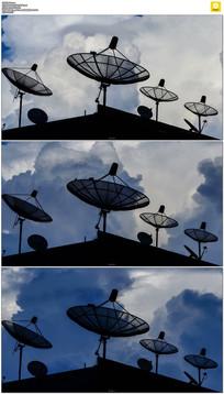 白云卫星天线实拍视频素材