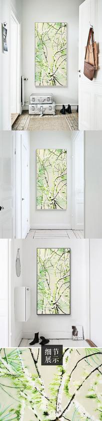 北欧清新现代简约枝繁叶茂树木装饰画 TIF
