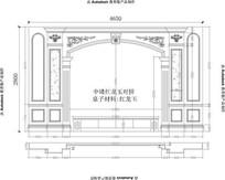 大理石电视背景4650X2800CAD设计图