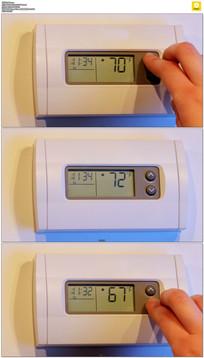 调节空调温度实拍视频素材