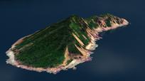 钓鱼岛地形3D模型