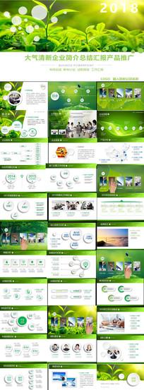 绿色自然生态公司简介宣传PPT