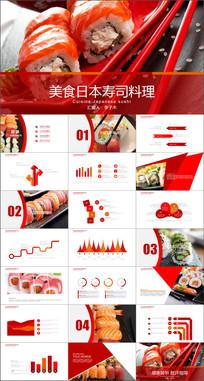 美食日本寿司料理动态PPT模板