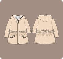 女童秋季风衣