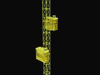施工电梯3d模型