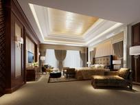现代简约欧式卧室3D模型