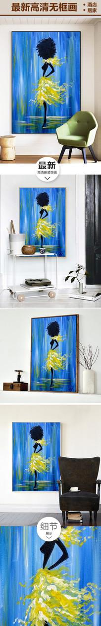 性感美女抽象油画装饰画