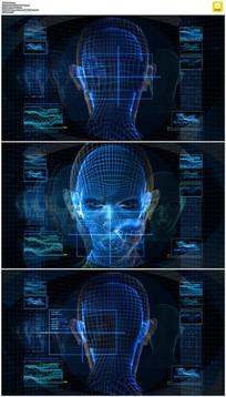 循环科技3D旋转人头动态视频素材