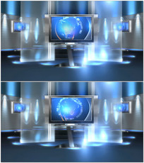 虚拟主播室背景视频