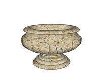 圆盆石器花钵